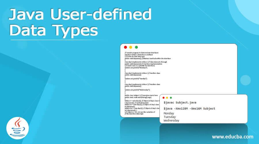 Java User-defined Data Types