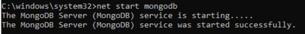 Mongodb shell output 1