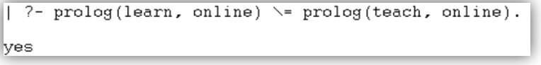 Prolog not equal 16