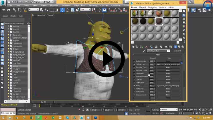 3DS Max Modeling | Shrek, Animation and Rendering Software