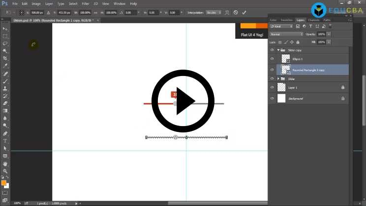 Photoshop:06 - Designing Flat UI Elements using Photoshop