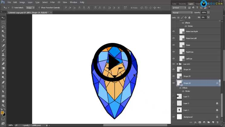 Photoshop:03 - Logo Designing Photoshop (Using)