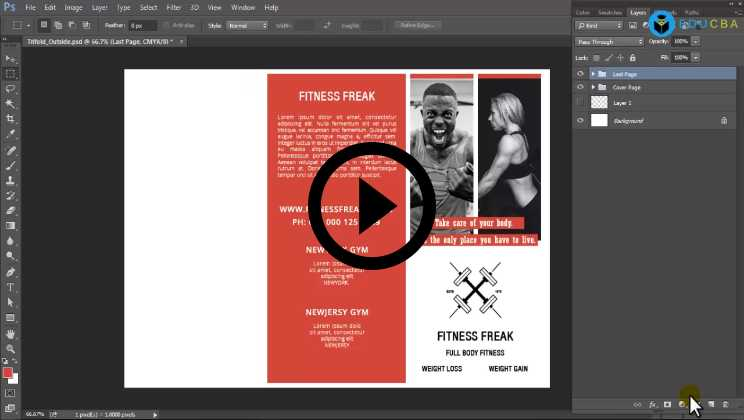 Online Brochure Designing Using Photoshop