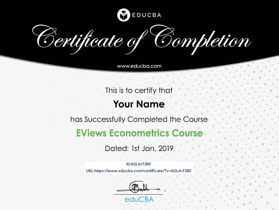 EViews Econometrics Course