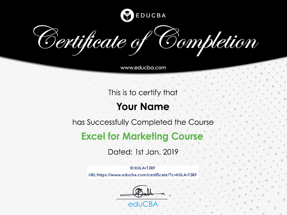 Excel for Marketing Course