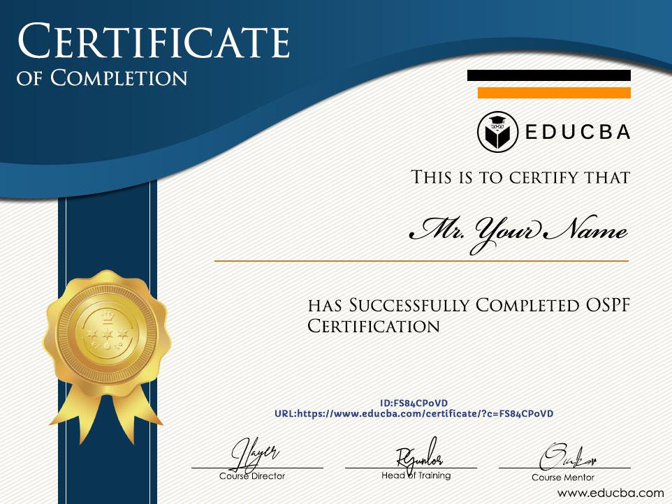 OSPF Certification Certificate