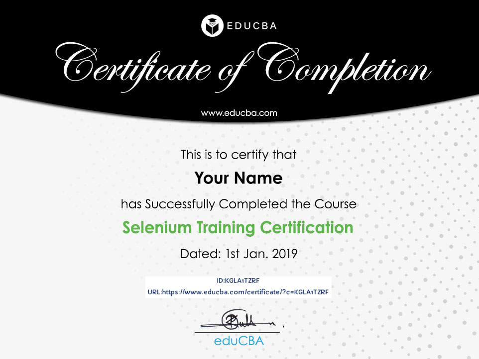 Selenium Training Certification