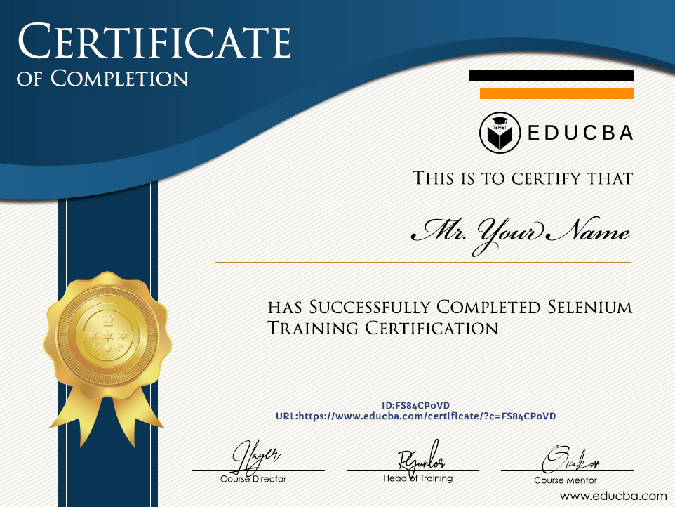 Selenium Training Certification
